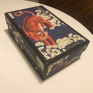 Gucci Bengal Tiger Rigid Shoe Box Navy Orange